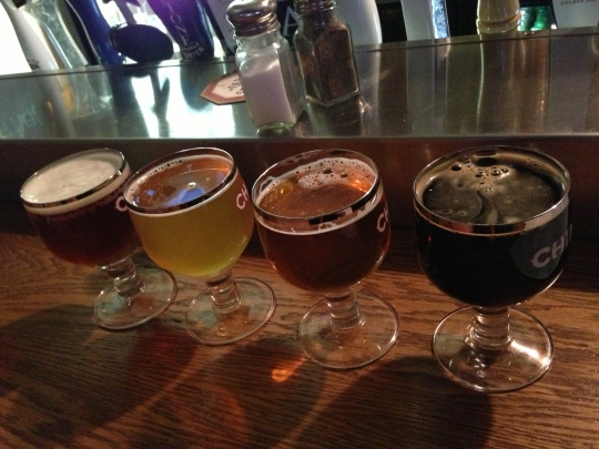 Craftsman Brewing flight at Lucky Baldwin's- Pasadena, CA.